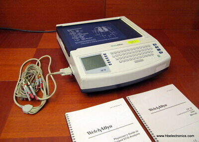 Welch Allyn Cp10 Ecg Ekg Machine With Leads Manual And Physicians Guide To Ecg