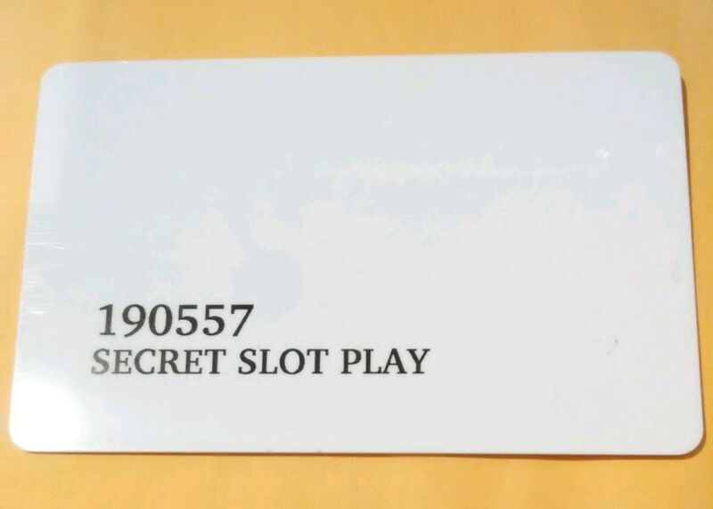 TUSCANY CASINO LAS VEGAS, NEVADA SECRET SLOT PLAY CARD GREAT FOR ANY COLLECTION!