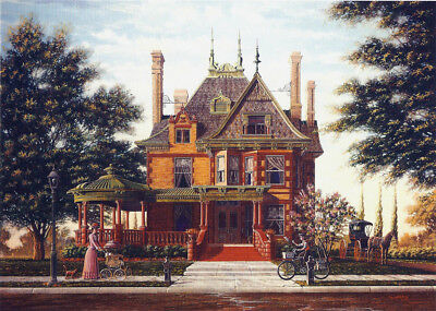 Victorian Queen Anne Fort Worth Texas McFarland Home Matted Art SIGNED Souders
