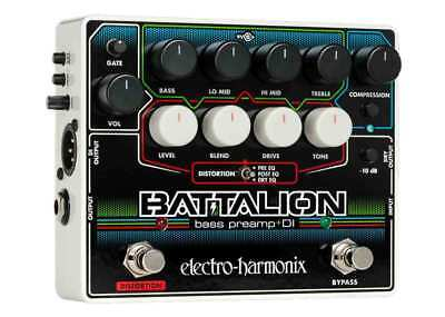 Electro-Harmonix Battalion Bass Preamp & DI Pedal Stompbox *Used*