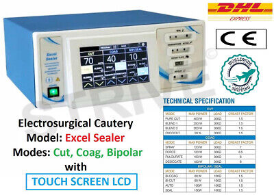 400watt Electrosurgical Unit Touch Screen Model Electrocautery Electrosurgery