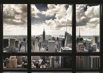 Fenster Poster (New York Poster Skyline Fenster 140 x 100 cm)