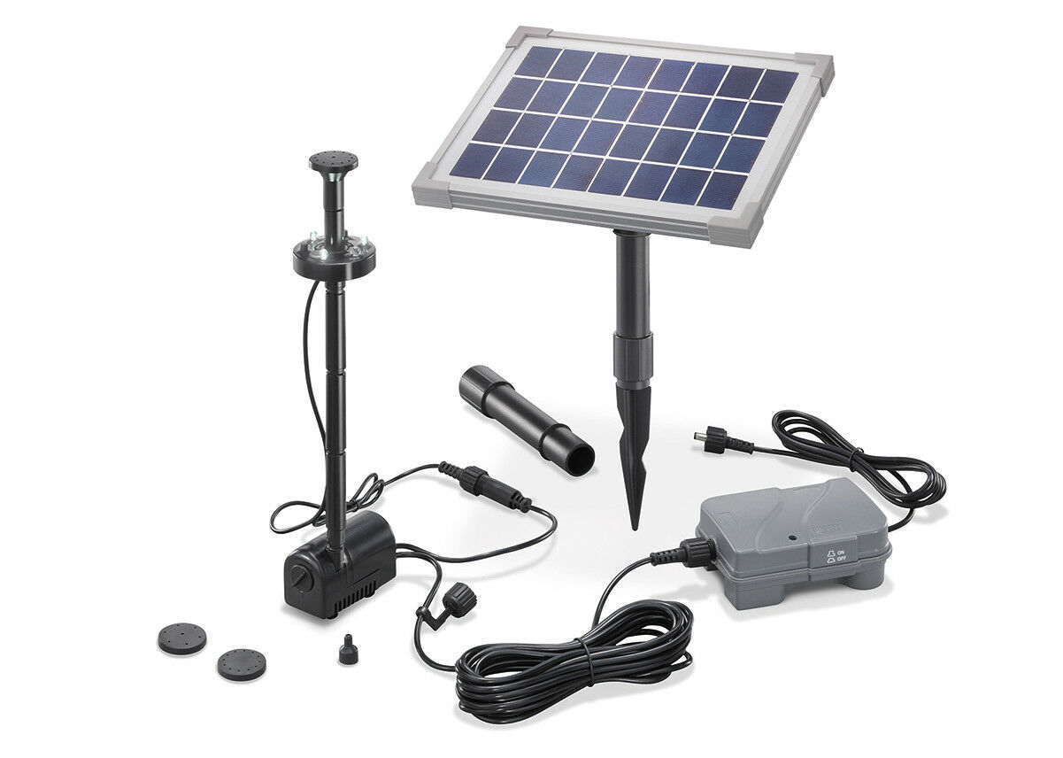 solarpumpe teichpumpe led solar mit akku gartenteich. Black Bedroom Furniture Sets. Home Design Ideas