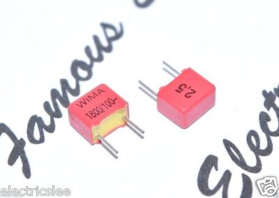 10pcs - Wima Fkp2 1800p 1800pf 1.8nf 18nf 100v 2.5 Pitch5mm Capacitor