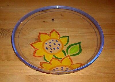 erschöner Anbietteller, Glas mit Sonnenblumen Dekor (Sonnenblumen-dekor)