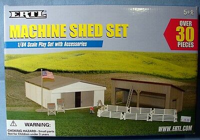 Ertl 1 64 Farm Country Machine Shed Set With Accessories