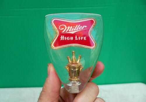 Vintage Miller Beer MILLER HIGH LIFE Lucite Acrylic Tap Knob Handle