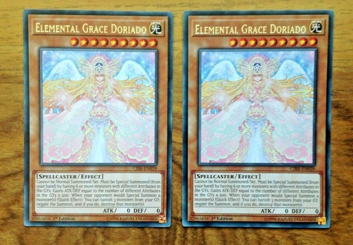 MP18-EN128 Elemental Grace Doriado Rare 1st Edition Mint YuGiOh Card