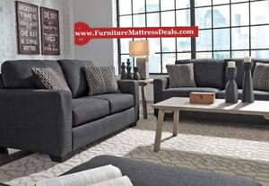 Brand new 2 piece steel fabric sofa / couch and love seat $1100