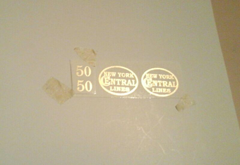 LIONEL PRE-WAR STANDARD SCALE 50 LOCO GOLD METALLIC WATER DECAL 0-4-0 ENGINE SET