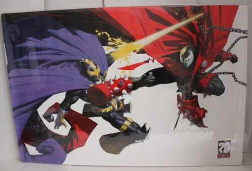 IMAGE COMICS 2012 SPAWN 20TH ANNIVERSARY #3 POSTER GREG CAPULLO 36 x 24 OOP VF++