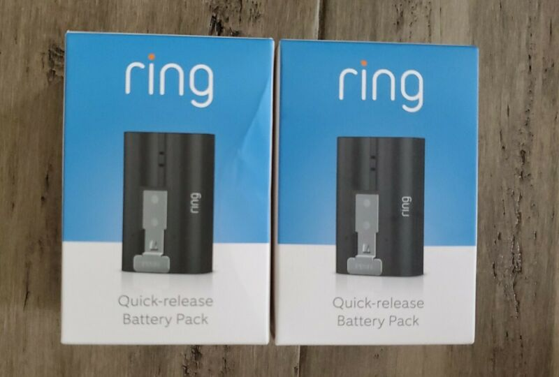 Ring Quick-Release Rechargeable Battery for Video Doorbell 2- Lot of 2