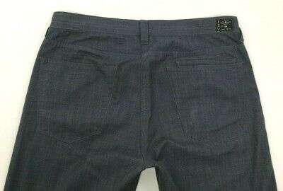 Paul Smith Jeans Gray Button Fly Cotton Blend Flat Front Pants Mens 32 x 30