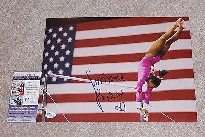 Simone Biles Signed 11X14 Photo Jsa Coa 2016 Rio Olympics Gold Medal Final Five