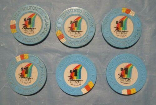 FLAMINGO HILTON (6) $1 Casino Chip Las Vegas Nevada