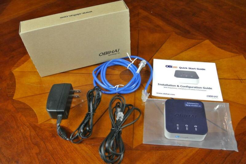 Obihai OBi200 1-Port VoIP Adapter with Google Voice & Fax Home or Business SOHO