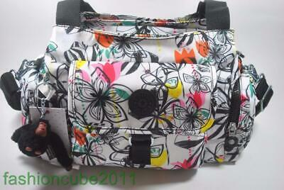 New With Tag KIPLING FELIX (FAIRFAX) L SHOULDER AND CROSSBODY BAG - Palm Print