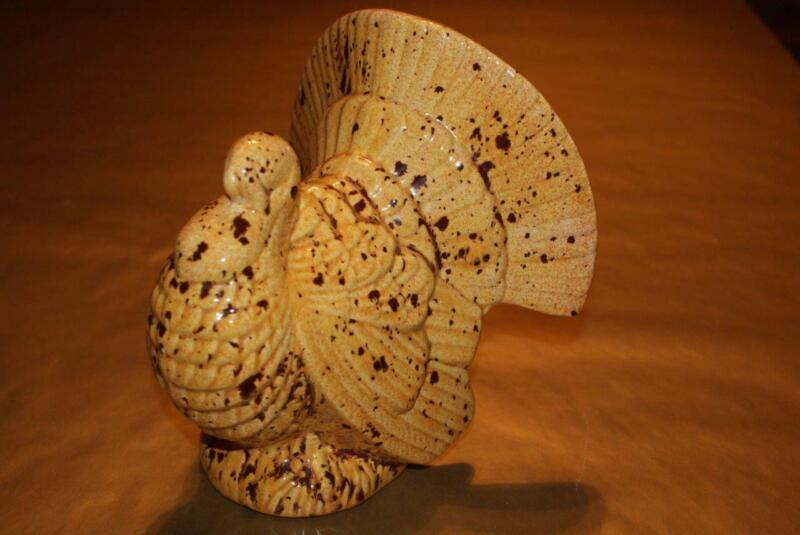 """Ceramic Beige Thanksgiving Figurine """"SPOTTED TURKEY"""""""