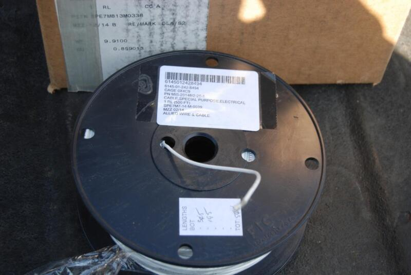 MIL SPEC WIRE MIS-20148/2-20-1 500FT 20awg single conductor NSN 6145-01-242-8494