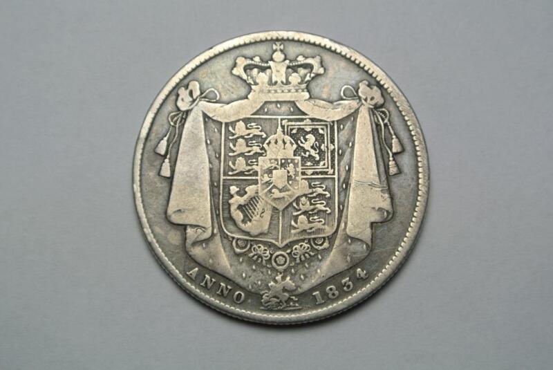UK GB, Great Britain 1834 Half Crown, SILVER, SCARCE - C5099