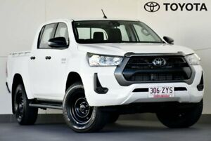 2020 Toyota Hilux GUN126R SR Double Cab White 6 Speed Sports Automatic Utility Kedron Brisbane North East Preview