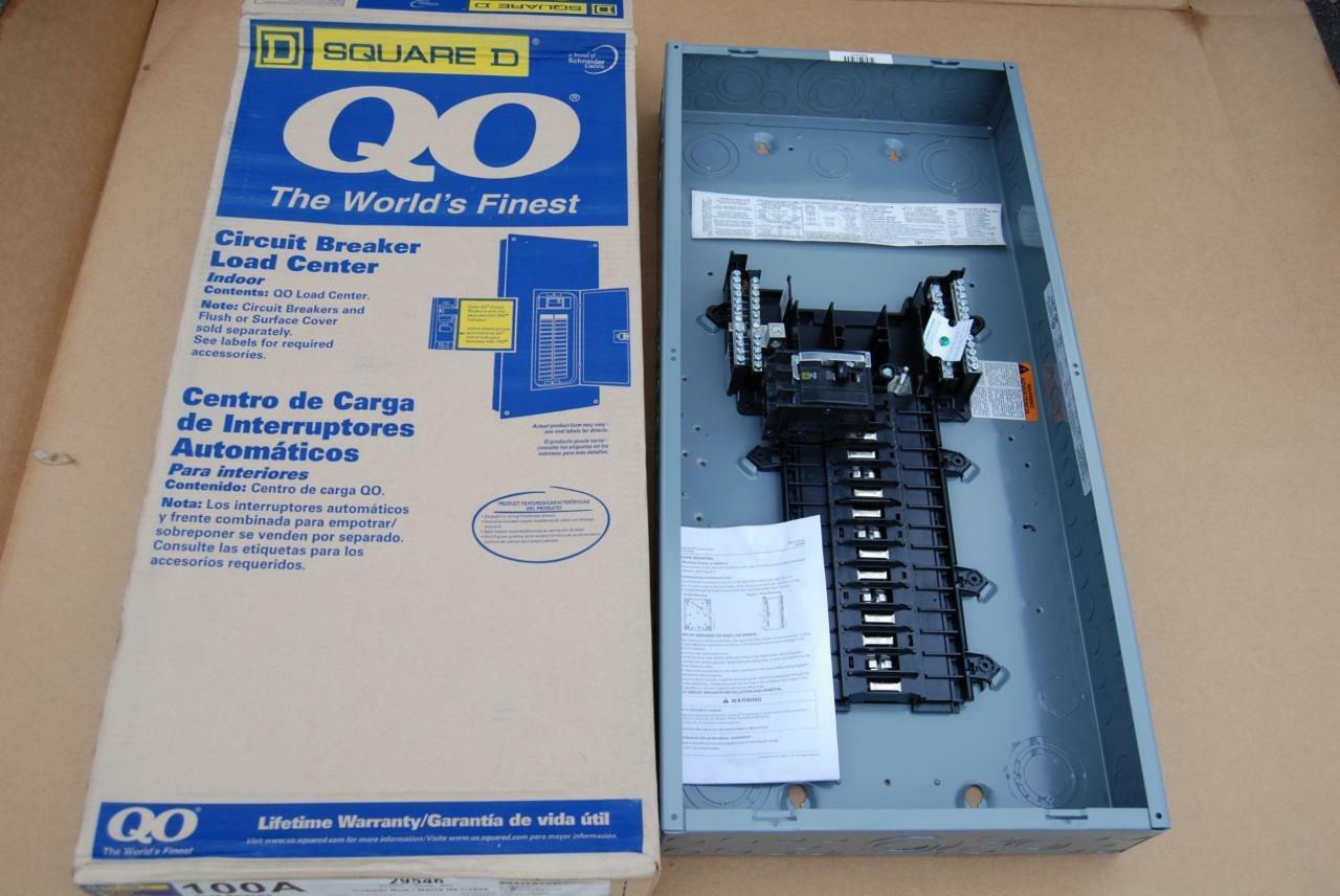 SQUARE D QO327M100 100 AMP 3 PHASE CIRCUIT BREAKER PANEL / LOAD CENTER BOX NEW