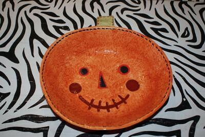 "HALLOWEEN ""JACK-O-LANTERN"" Large Ceramic Bowl/Candy Bowl - New!"
