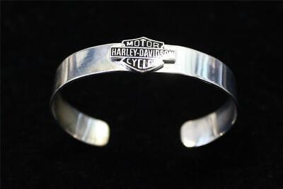 Harley Davidson Sterling HD Logo (Harley Bracelets)