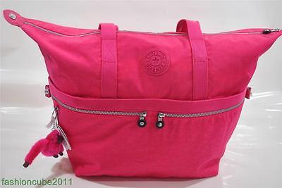 New With Tag Kipling Matty Large Tote Bag/ Shopper/Carry-on - Vibrant Pink