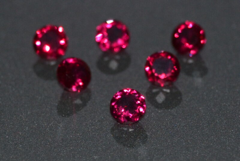 A Single Gorgeous 3.5mm IF Brilliant Cut Genuine Red Ruby!!!