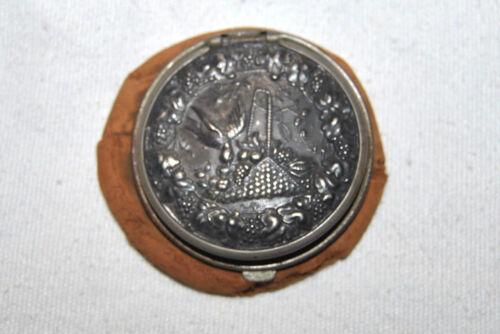 RARE Antique Art Nouveau Woman Leather Coin Purse
