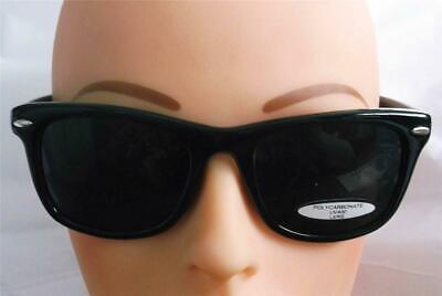 SUN GLASSES BLUES BROTHERS RETRO STYLE SUPER DARK  BLACK UNISEX (Super Sun Glasses)