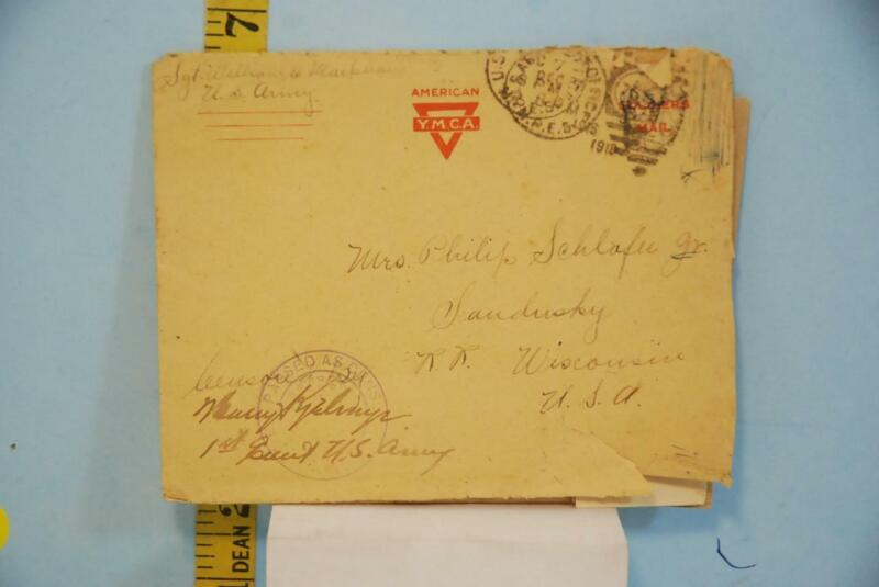 1918 WWI  American Soldier Letter From France on YMCA Stationary Paper