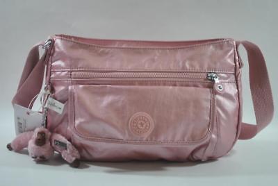 KIPLING SYRO Travel Bag Shoulder CrossBody Bag Icy Rose Meta
