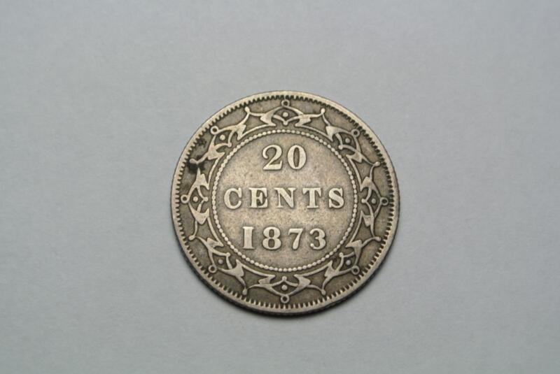 Canada Newfoundland 1873 20 Cent VF Silver Coin - C6670