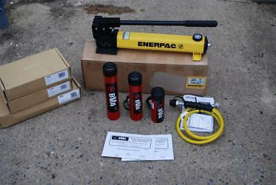 Enerpac P-392 Hydraulic Hand Pump Bva Cylinder Kit W Hose H1008 06 04 New