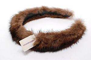 BERGDORF-GOODMAN-Brown-Mink-Headband-CHARMING-NWT-Retail-75