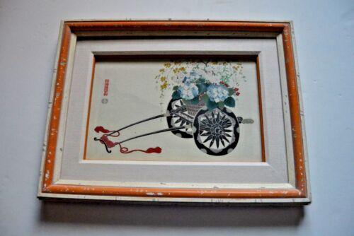 Original mid-century Japanese woodblock print by Kin-u Takeshita (1930-1950)