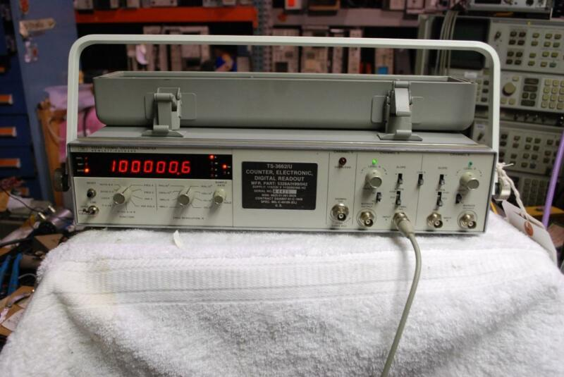 HP 5328A Universal Counter C-Channel 500 MHz H99 Opt 011 and 42 opt. 10 Oven Osc