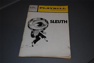 Sleuth The Music Box Theatre 1971 Original Broadway Playbill Paul Rogers Vintage