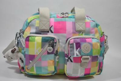 New With Tag KIPLING Defea Print Shoulder Handbag HB3510 9AP - K Squared Neon