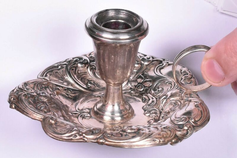Gorham Sterling Chamber Candlestick Holder 324 Repousse