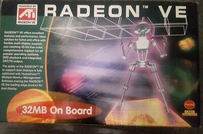 - AGP ATI Radeon VE 32MB - AGP VGA & CRT/TV out NEW RETAIL BOX