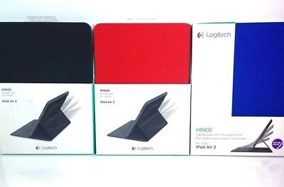 Logitech Hinge Stand Flexible Durable Protective Folio Case for iPad Air 2nd