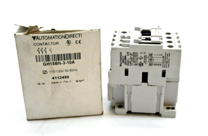 NEW AUTOMATION DIRECT PLC DIRECT GH15BN-3-10A CONTACTOR 9A GH15BN310A