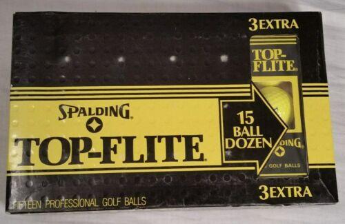 Vintage Spalding Top-Flite 15 Ball Dozen - Yellow