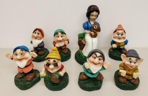 Disney Snow White And The Seven Dwarves Dwarfs Cement Concrete Statues Figures