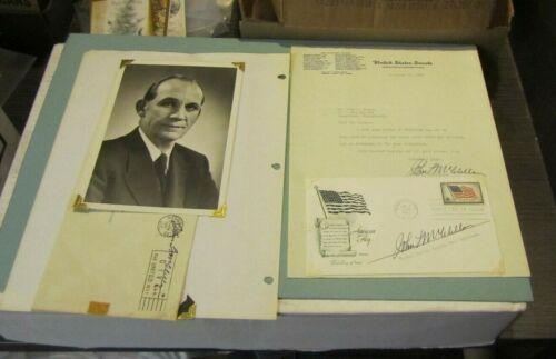 1957 Arkansas Senator John McClellan Autograph Signed Letter and FDC with Photo