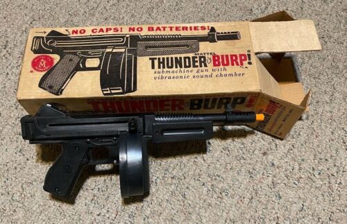 MATTEL THUNDER*BURP  Sub Machine Gun, in Original Box