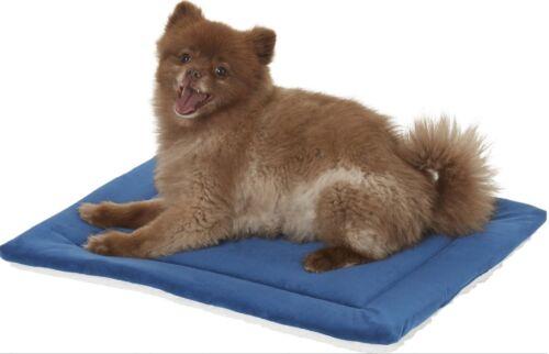 """24"""" Blue Frisco Lightweight Self Warming Lounger Rectangular Pet Cat Dog Bed Mat"""